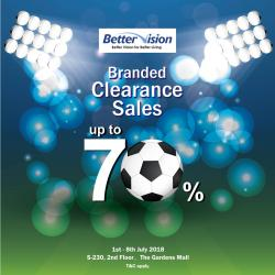 Better Vision Branded Clearance Sales at The Gardens Mall (1 July 2018 - 8 July 2018)