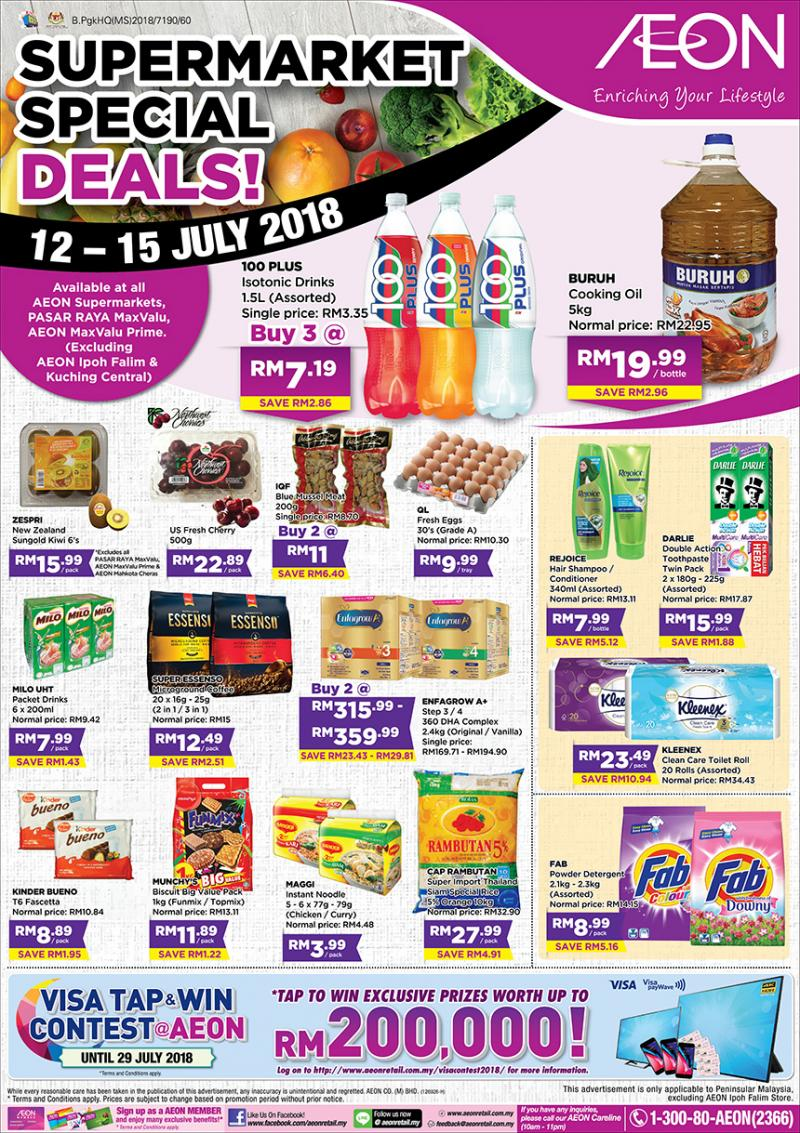 AEON Supermarket Special Deals (12 July 2018 - 15 July 2018)