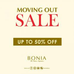 BONIA Sunway Pyramid Moving Out Sale Up To 50% OFF (13 July 2018 - 15 July 2018)