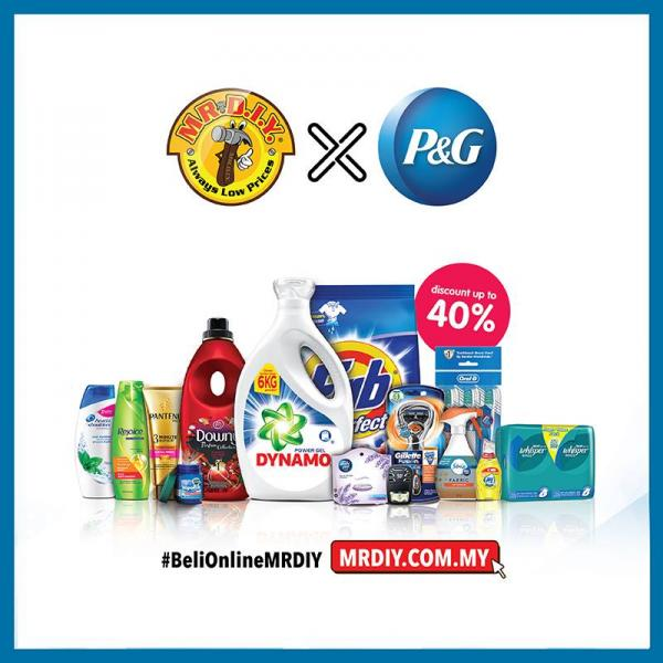 MR D.I.Y. P&G Online Exclusive Promotion Discount Up To 35% (1 July 2018 - 31 July 2018)