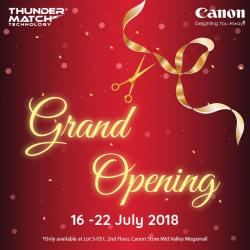 Thunder Match Technology Canon Concept Store Grand Opening Special at Mid Valley Megamall (16 July 2018 - 22 July 2018)