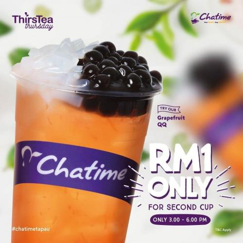 Chatime Thirstea Thursday RM1 for 2nd Cup Promotion