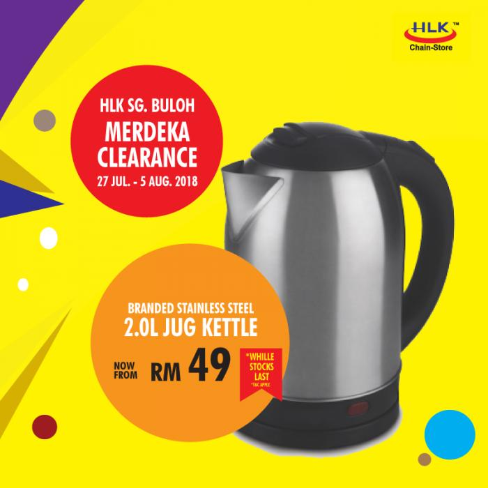 HLK Merdeka Clearance Sale at Sg. Buloh (27 July 2018 - 5 August 2018)