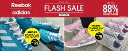 SportsDirect Flash Sale Up To 88% Discount Adidas and Reebok Shoes from RM79 only