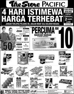 The Store and Pacific Hypermarket Promotion (28 July 2018 - 29 July 2018)
