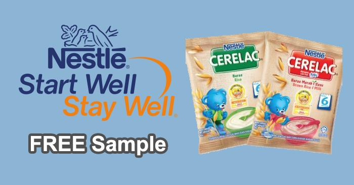 nestle cerelac infant cereal 3 sachets free sample