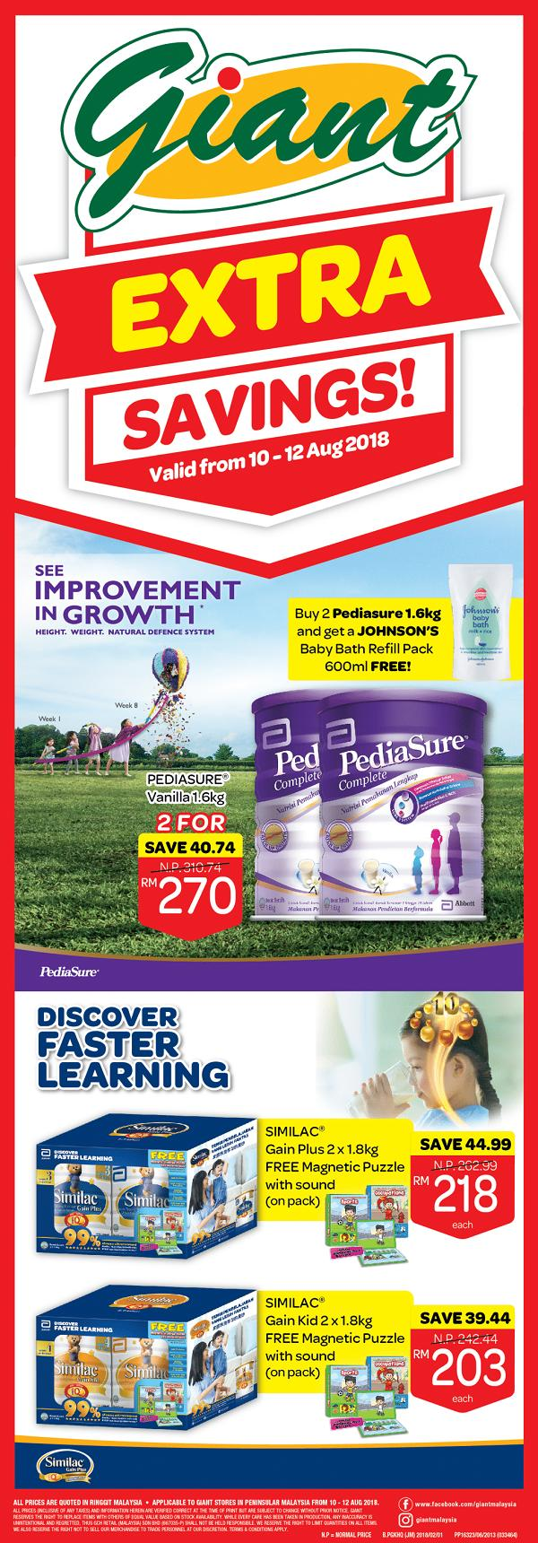 Giant Abbott Promotion (10 August 2018 - 12 August 2018)