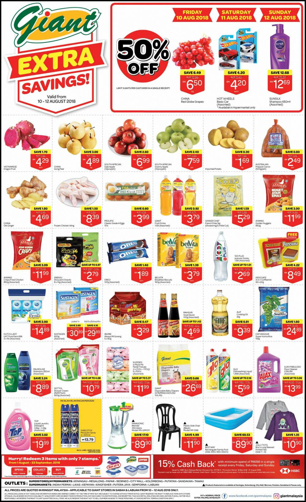 Giant Weekend Promotion at Sabah and Labuan (10 August 2018 - 12 August 2018)