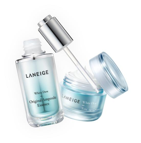 LANEIGE FREE White Dew Original Ampoule Essence and White Dew Tone-up Cream Sample Kit