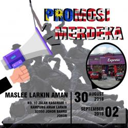 Maslee Larkin Aman Merdeka Promotion (30 August 2018 - 2 September 2018)
