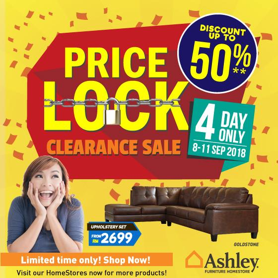 Ashley Furniture Homestore Price Lock Clearance Sale Discount Up To
