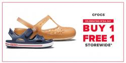 Crocs Malaysia Day Promotion Buy 1 FREE 1 (until 30 September 2018)