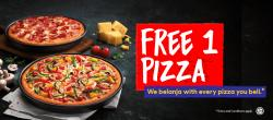 Pizza Hut Buy 1 FREE 1 Promotion (7 September 2018 - 7 October 2018)