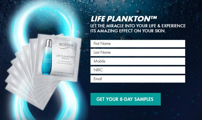 Biotherm FREE Life Plankton™ Essence 8-day Skin Miracle Samples