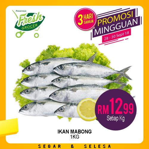 Pasaraya Fresh Grocer Weekend Promotion (28 September 2018 - 30 September 2018)