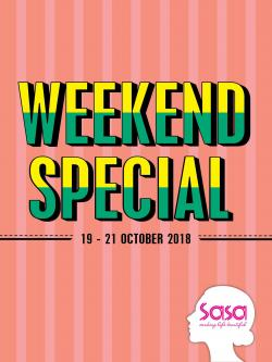 Sasa Weekend Promotion (19 October 2018 - 21 October 2018)