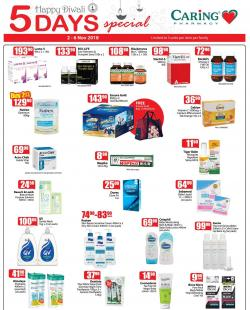 CARiNG PHARMACY 5 Days Special Promotion (2 November 2018 - 6 November 2018)