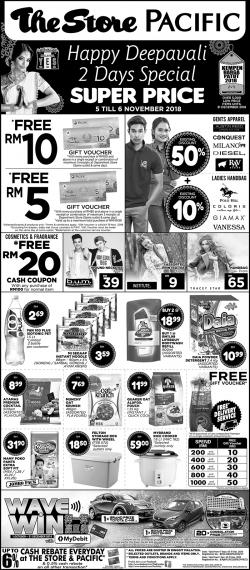 The Store and Pacific Hypermarket Super Price Promotion (5 November 2018 - 6 November 2018)