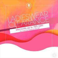 Robinsons Ladies Wear Clearance Discount Up To 80% OFF (until 25 November 2018)