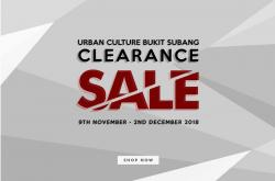 Urban Culture Furniture Clearance Sale Up To 70% OFF (9 November 2018 - 2 December 2018)