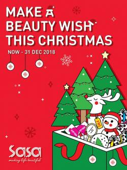 Sasa Christmas Beauty Wish Promotion Catalogue (until 31 December 2018)