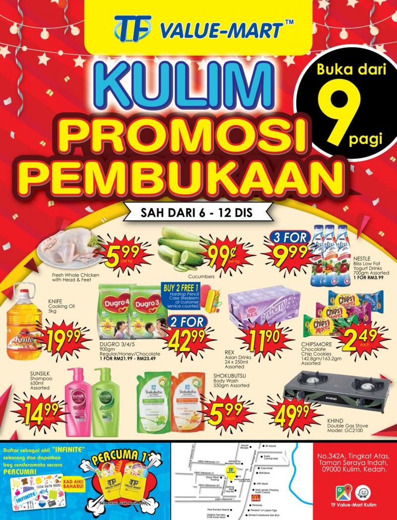 TF Value-Mart Kulim Opening Promotion (6 December 2018 - 12 December 2018)