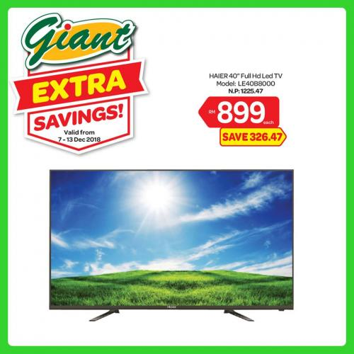 Giant Household Essentials & Electrical Promotion (7 December 2018 - 13 December 2018)