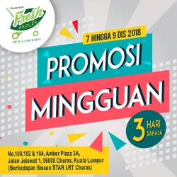 Pasaraya Fresh Grocer Weekend Promotion (7 December 2018 - 9 December 2018)