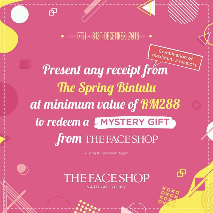 THEFACESHOP Grand Opening Special at Bintulu (17 December 2018 - 31 December 2018)