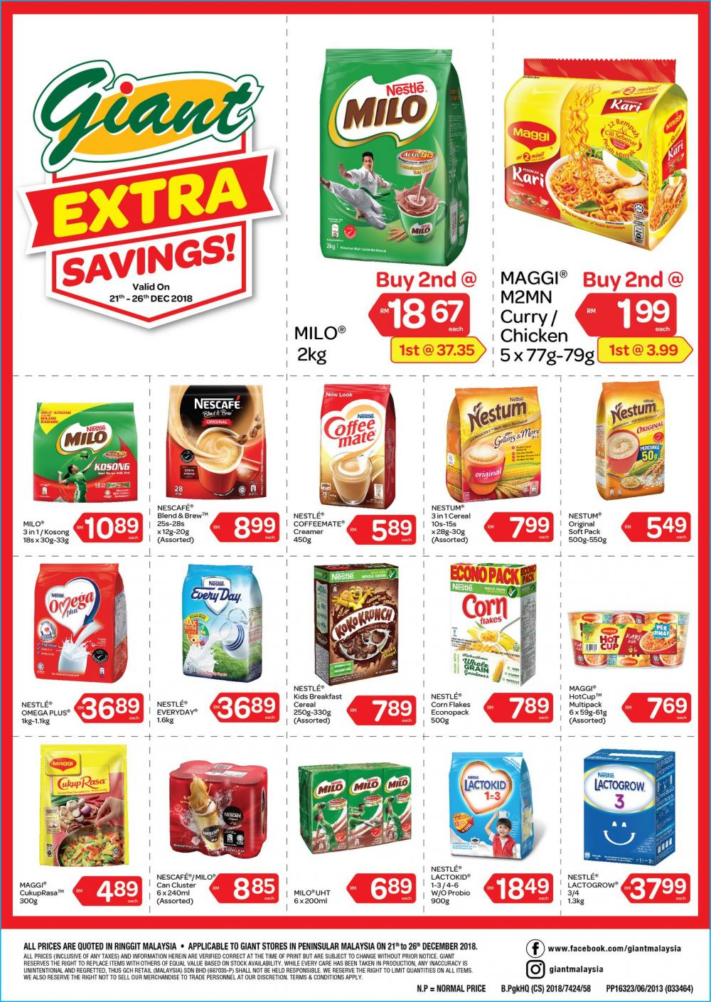 Giant Nestle Promotion (21 December 2018 - 26 December 2018)