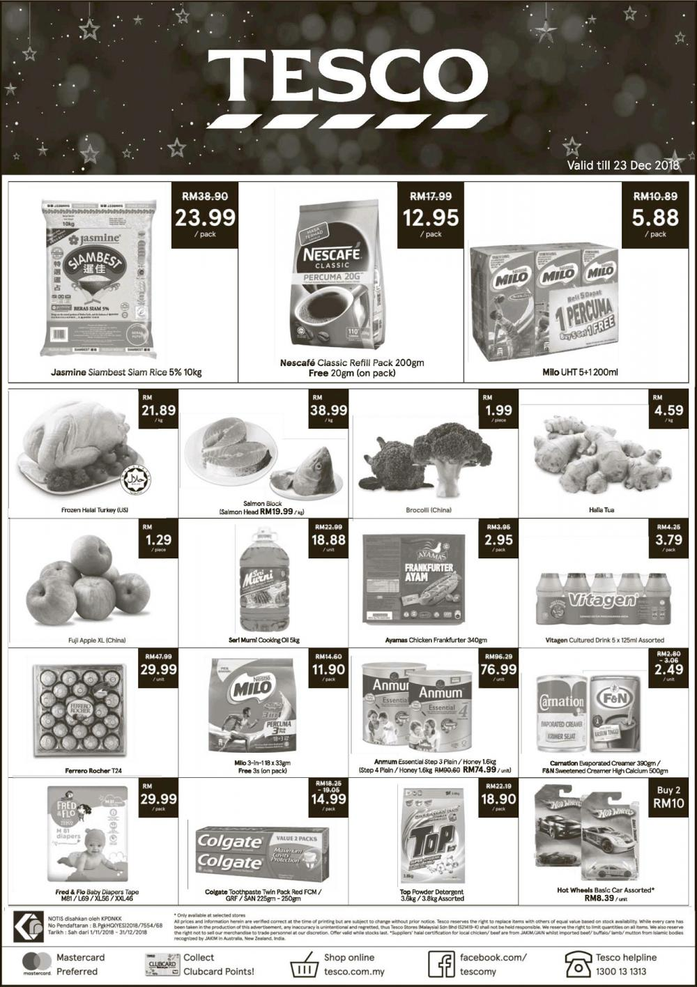 Tesco Weekend Promotion (22 December 2018 - 23 December 2018)