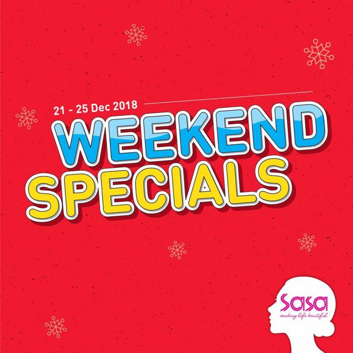 Sasa Weekend Promotion (21 December 2018 - 25 December 2018)