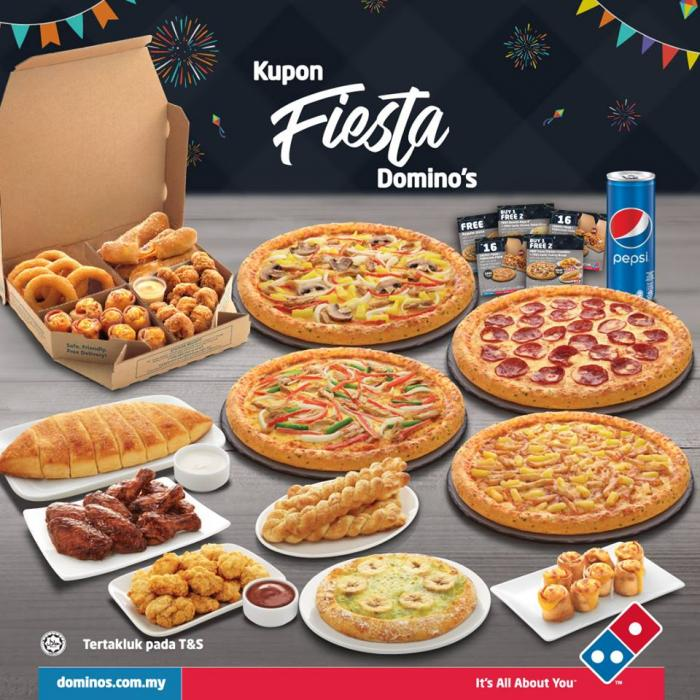 Domino S Pizza Free Fiesta Coupon Until 31 January 2019