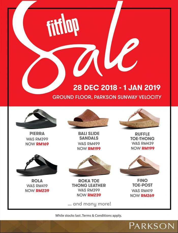 Fitflop Sale at Parkson Sunway Velocity (28 December 2018 - 1 January 2019)