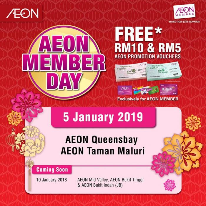 AEON Member Day at AEON Queensbay and AEON Taman Maluri (5 January 2019)