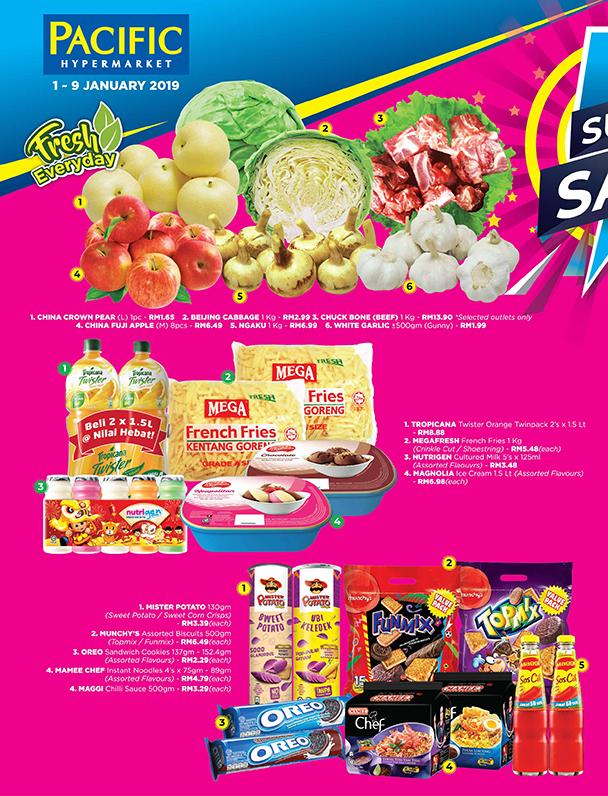 Pacific Hypermarket Super Sale Promotion (1 January 2019 - 9 January 2019)