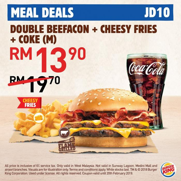 Burger King Digital Coupon (until 20 February 2019)