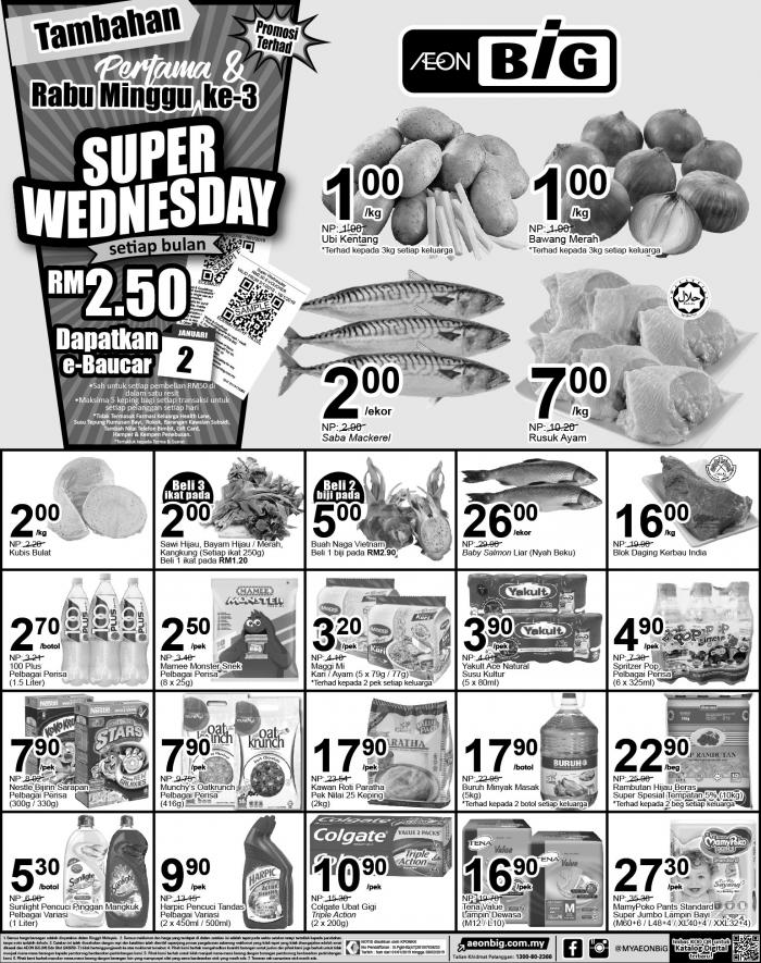 AEON BiG Super Wednesday Promotion (2 January 2019)