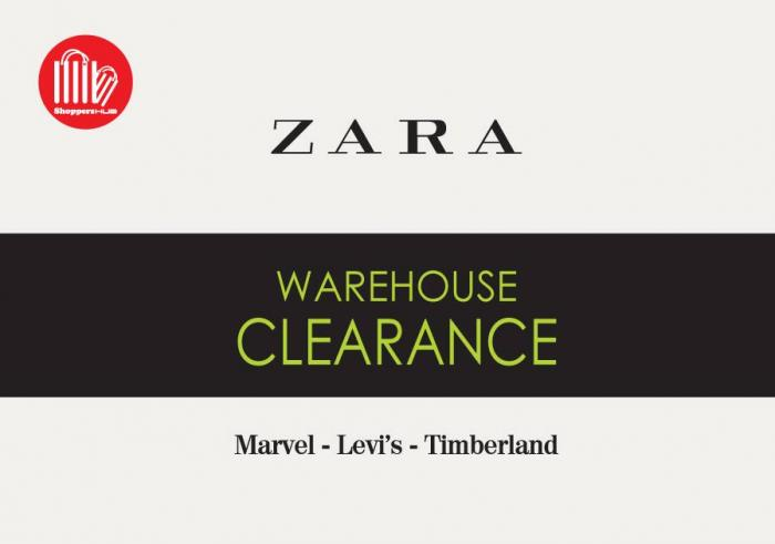 Zara Warehouse Clearance Sale at Atria Shopping Gallery (10 January 2019 - 13 January 2019)